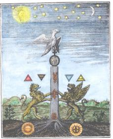 Engraving From Giovanni Lacinio Pretiosa Margarita Leipsig 1714, Alchemical And Hermetic Emblems 1